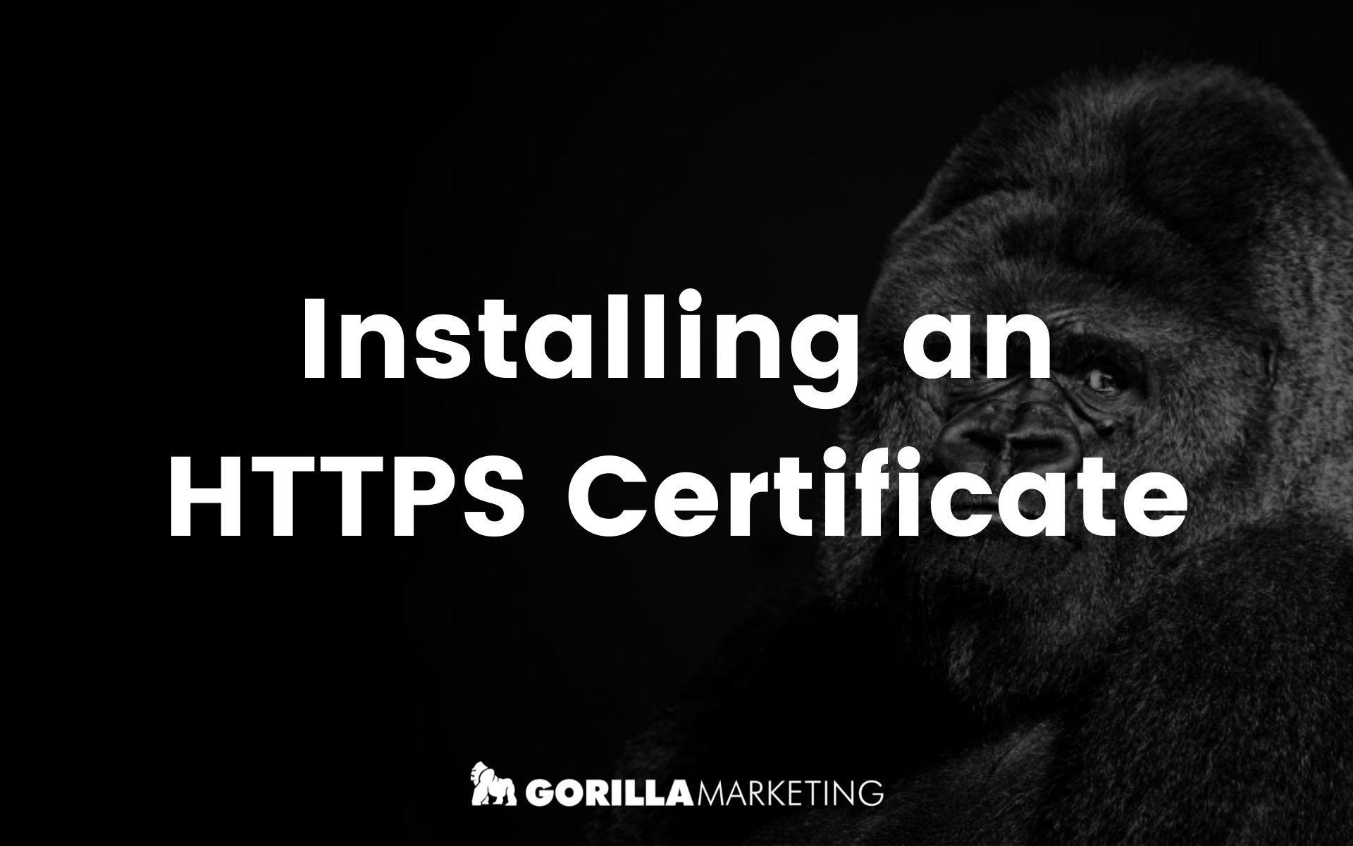 Installing an HTTPS Certificate