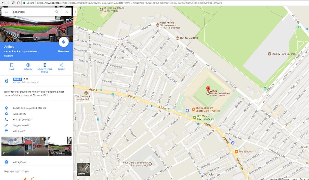 anfield google