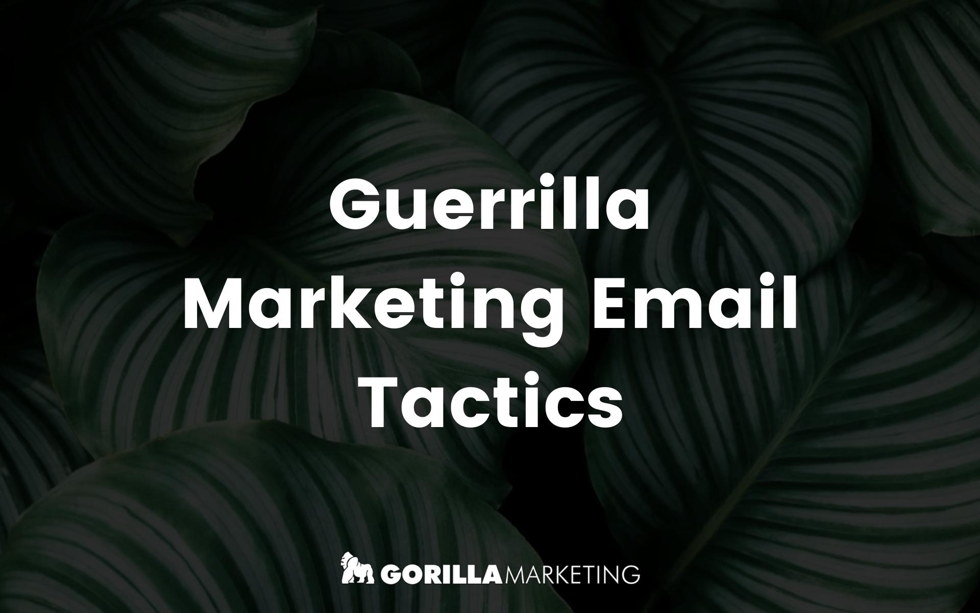 Guerilla Email Marketing
